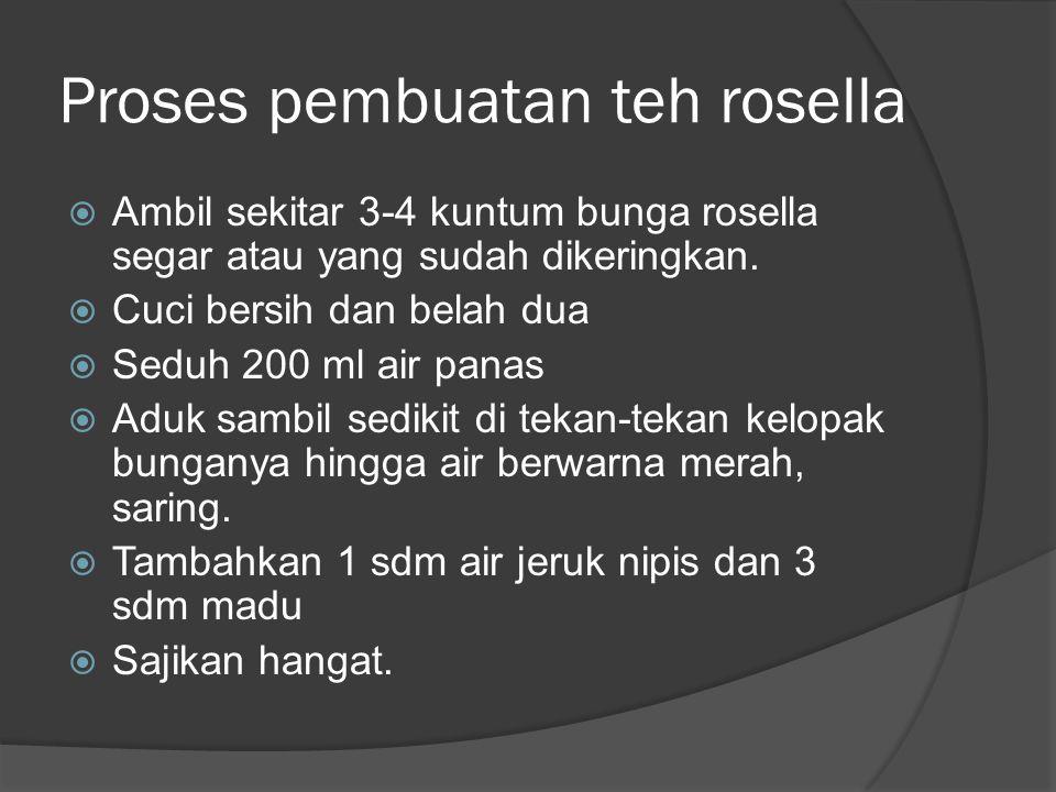 Proses pembuatan teh rosella