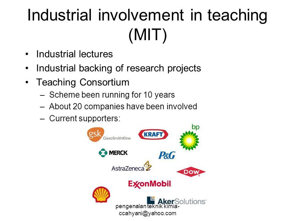 Industrial involvement in teaching (MIT)