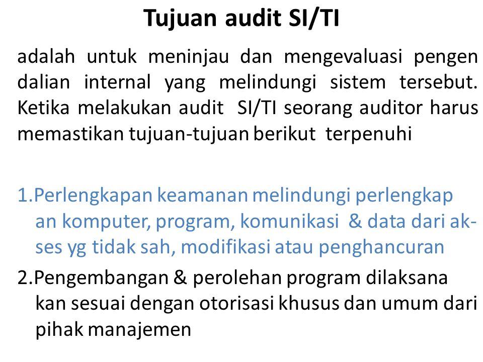 Tujuan audit SI/TI