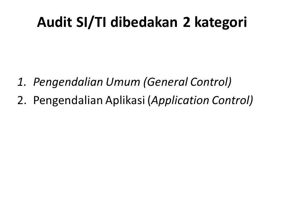 Audit SI/TI dibedakan 2 kategori