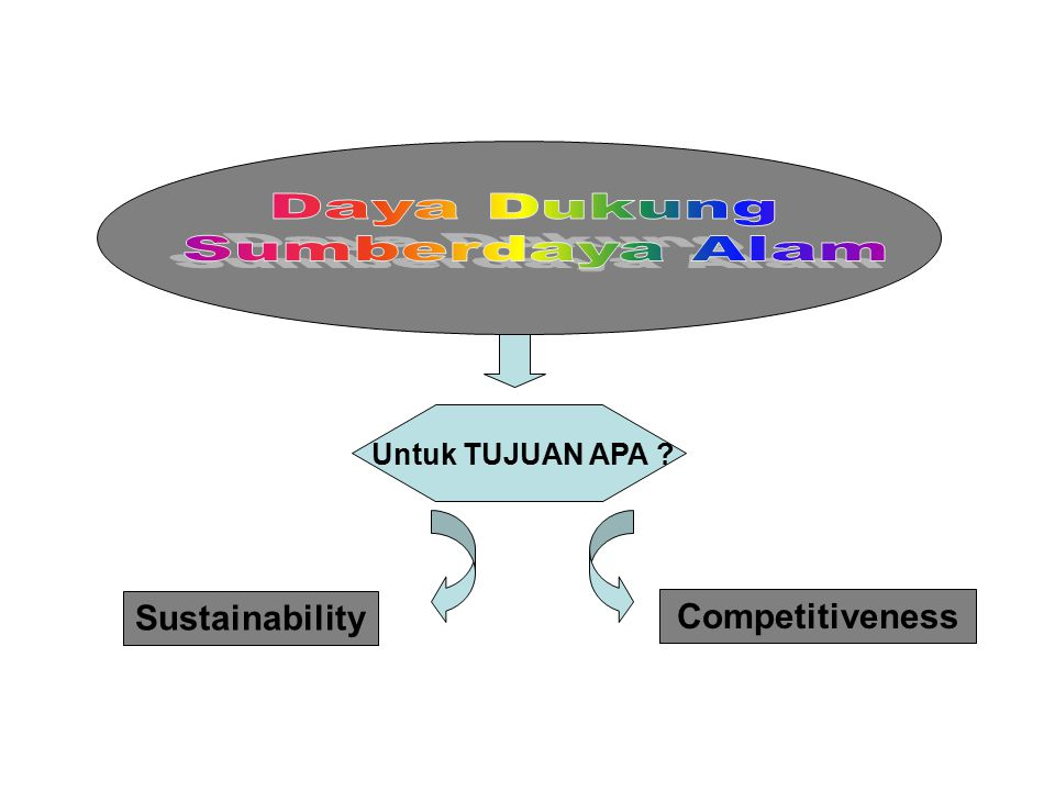 Daya Dukung Sumberdaya Alam Sustainability Competitiveness