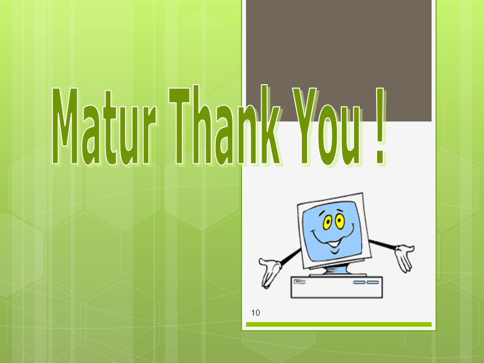 Matur Thank You !