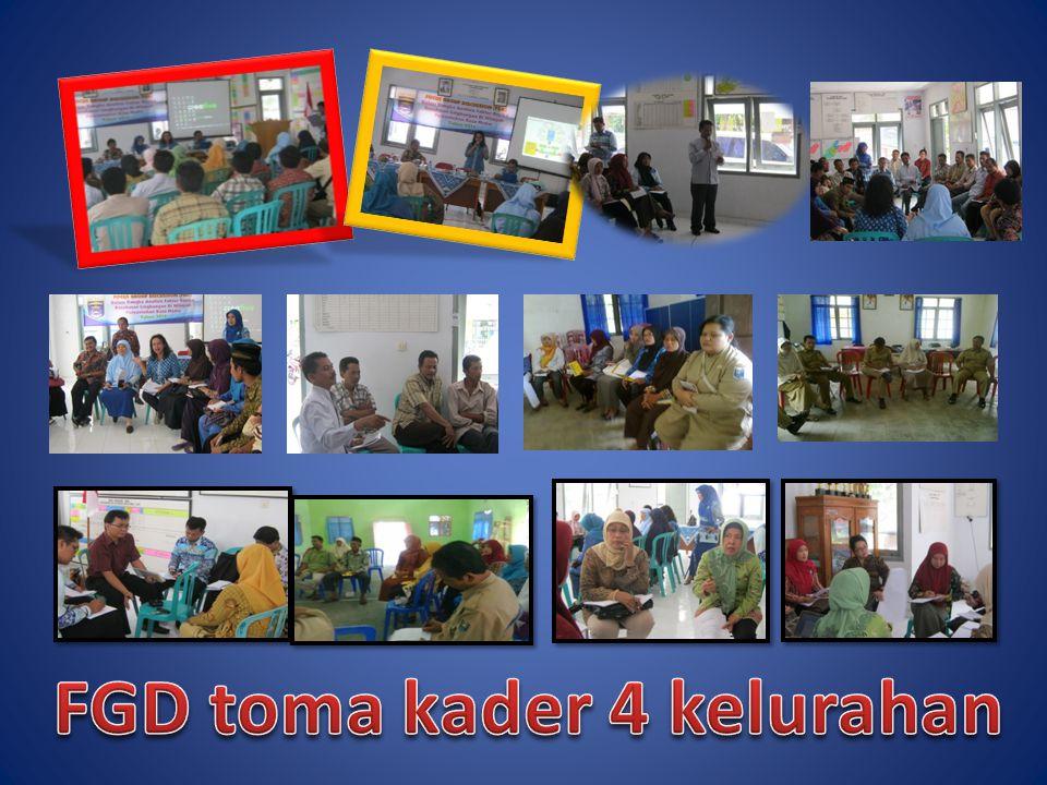 FGD toma kader 4 kelurahan