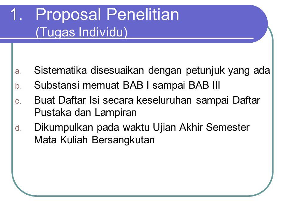 Proposal Penelitian (Tugas Individu)