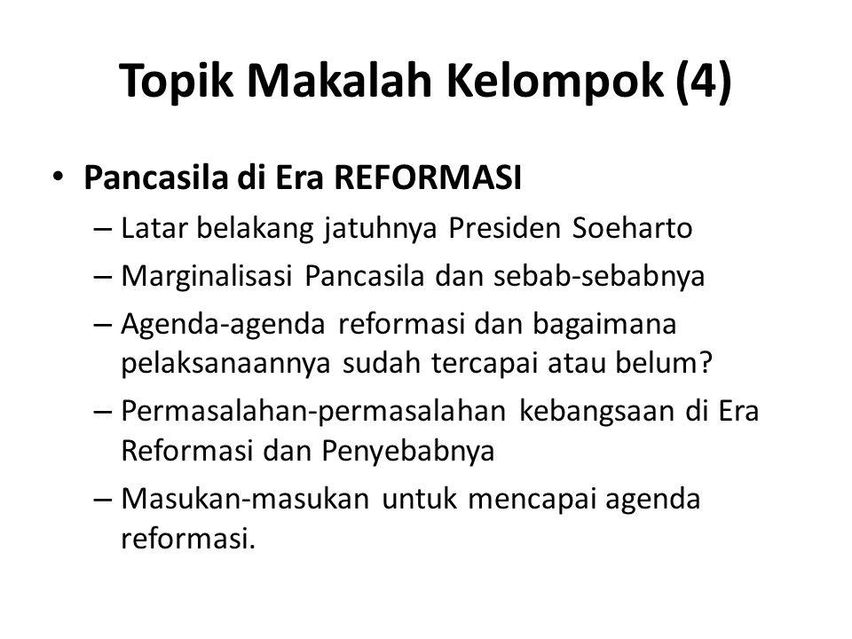 Topik Makalah Kelompok (4)