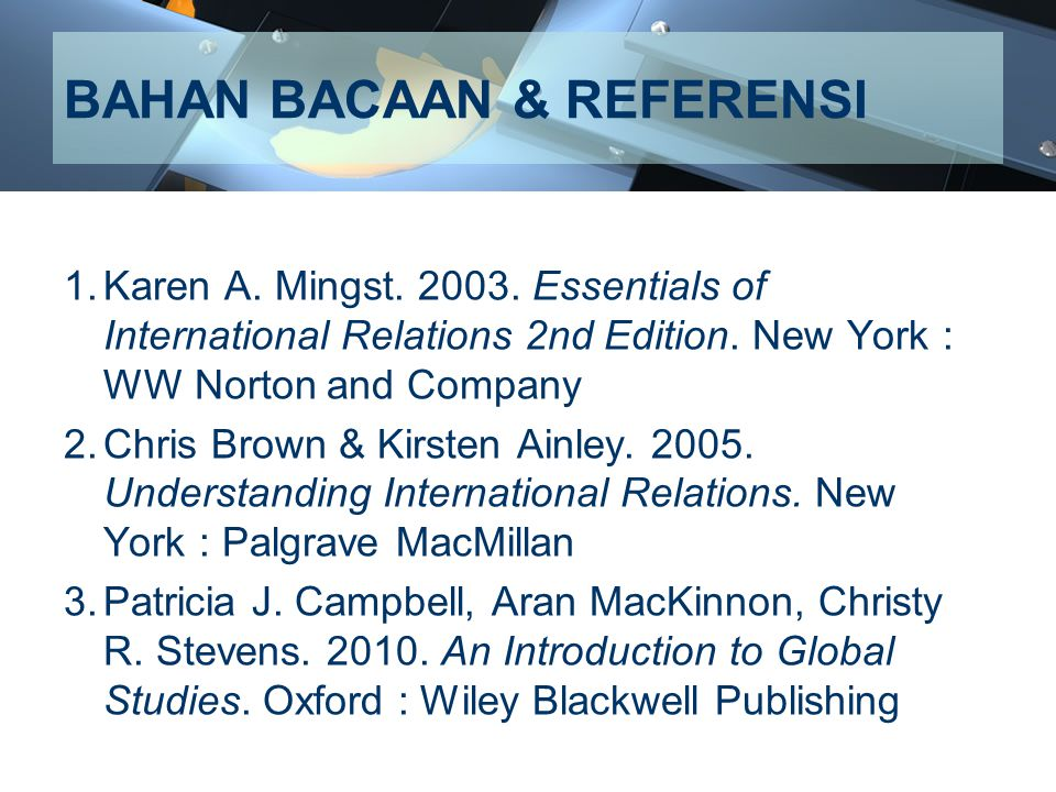 BAHAN BACAAN & REFERENSI