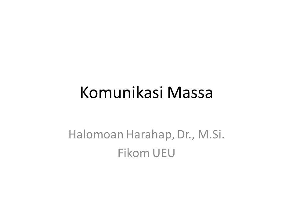 Halomoan Harahap, Dr., M.Si. Fikom UEU