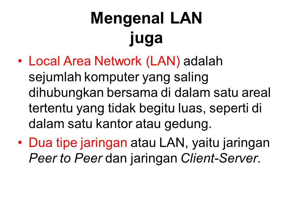 Mengenal LAN juga