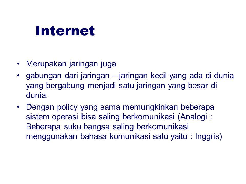 Internet Merupakan jaringan juga