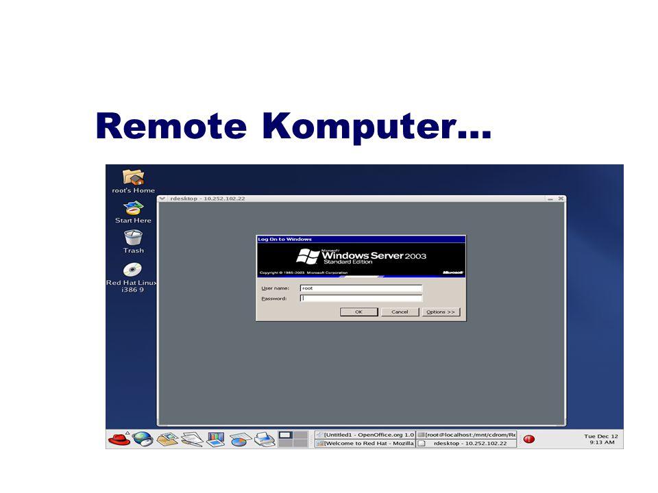 Remote Komputer…