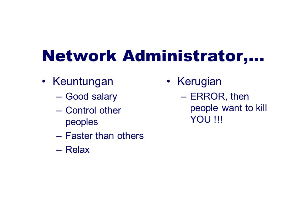 Network Administrator,…