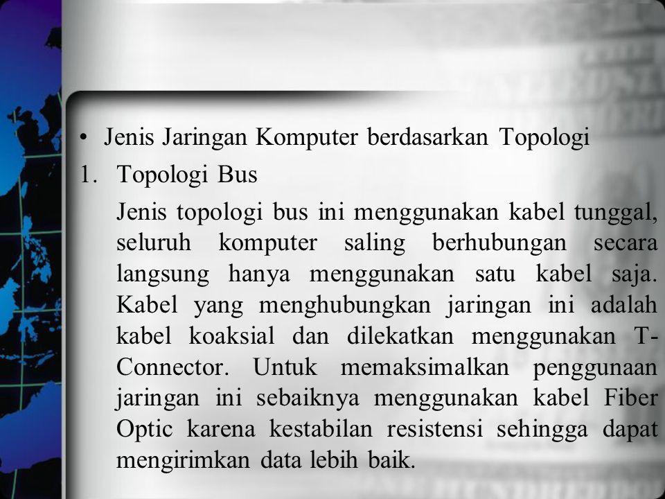 Jenis Jaringan Komputer berdasarkan Topologi