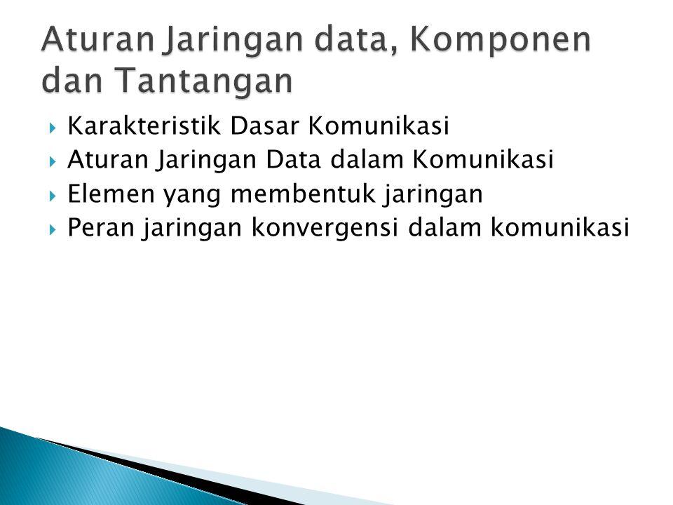 Aturan Jaringan data, Komponen dan Tantangan