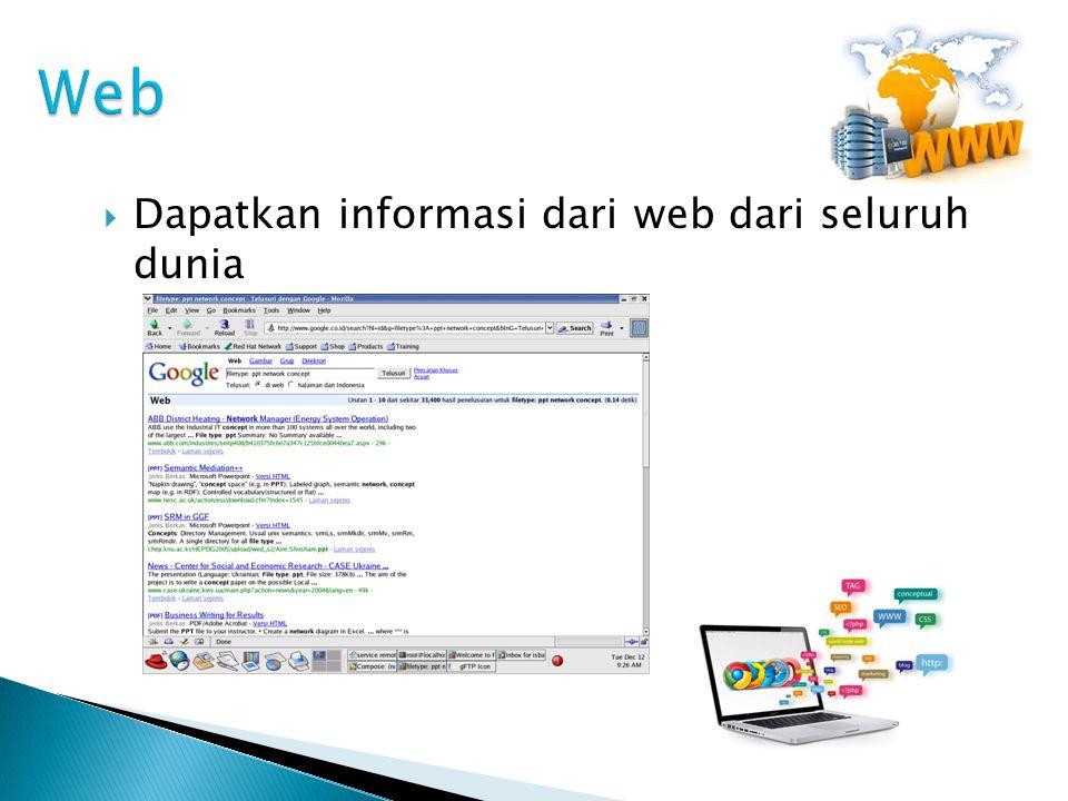 Web Dapatkan informasi dari web dari seluruh dunia