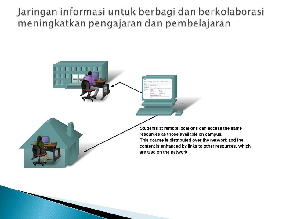 Jaringan informasi untuk berbagi dan berkolaborasi meningkatkan pengajaran dan pembelajaran