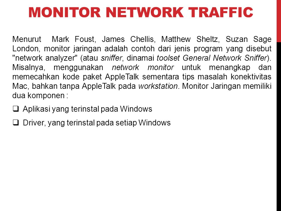 MONITOR NETWORK TRAFFIC