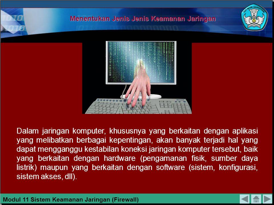 Menentukan Jenis Jenis Keamanan Jaringan