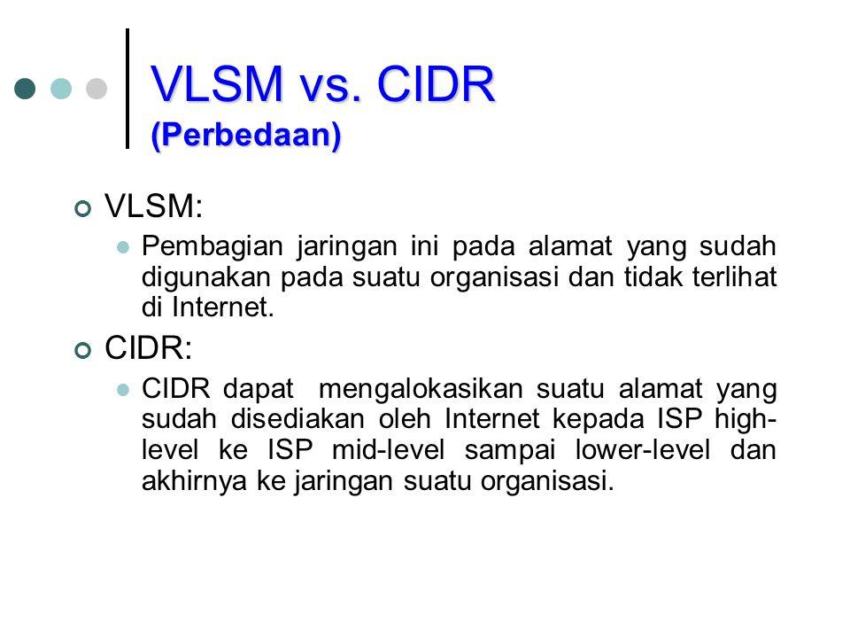 VLSM vs. CIDR (Perbedaan)