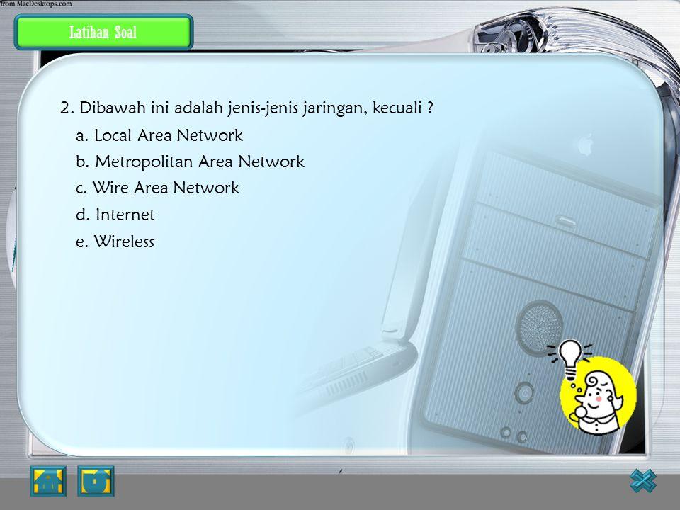 Latihan konsep dasar jaringan