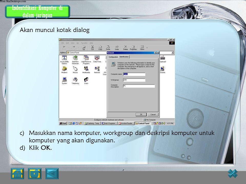 Indentifikasi Komputer dalam jaringan