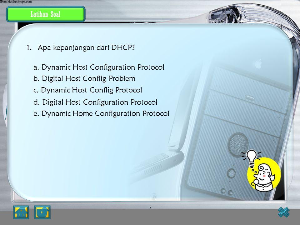 Apa kepanjangan dari DHCP