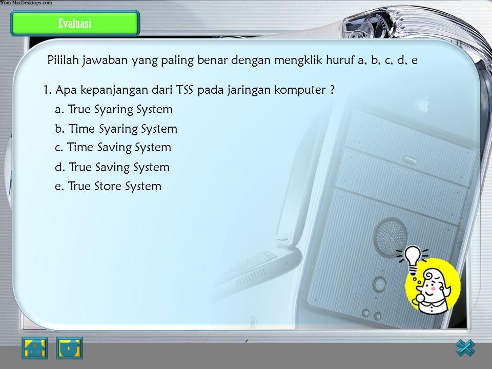 Pililah jawaban yang paling benar dengan mengklik huruf a, b, c, d, e