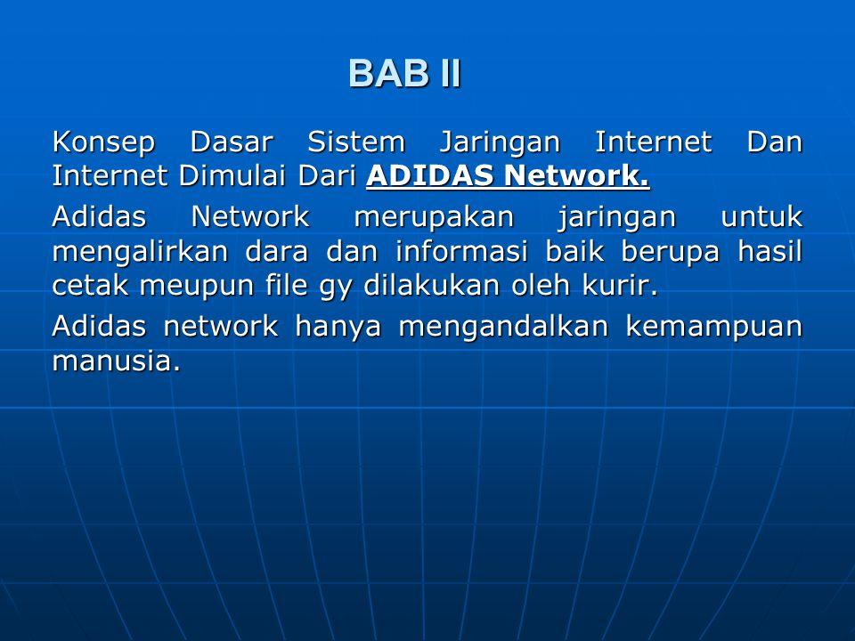 BAB II Konsep Dasar Sistem Jaringan Internet Dan Internet Dimulai Dari ADIDAS Network.