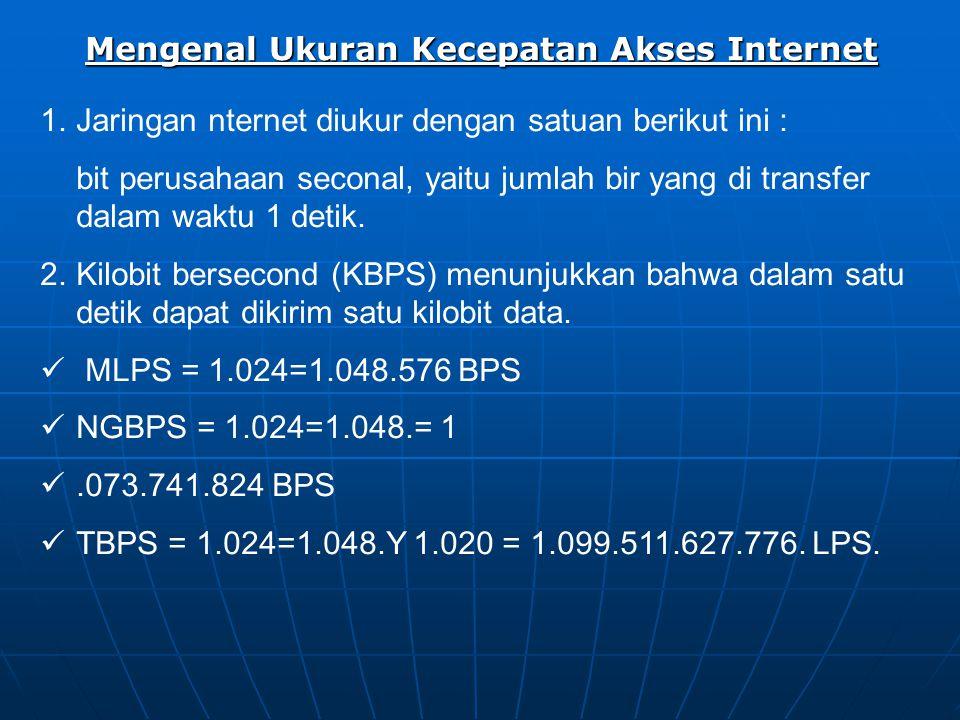 Mengenal Ukuran Kecepatan Akses Internet