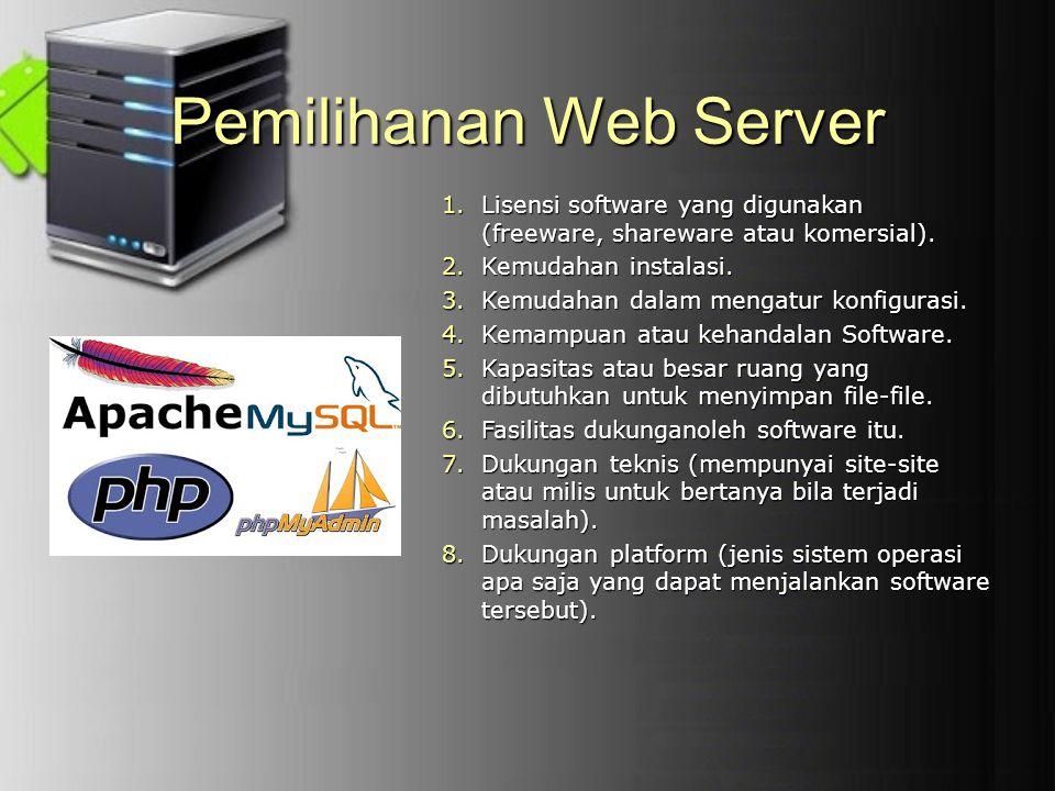 Pemilihanan Web Server