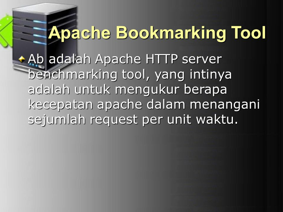 Apache Bookmarking Tool