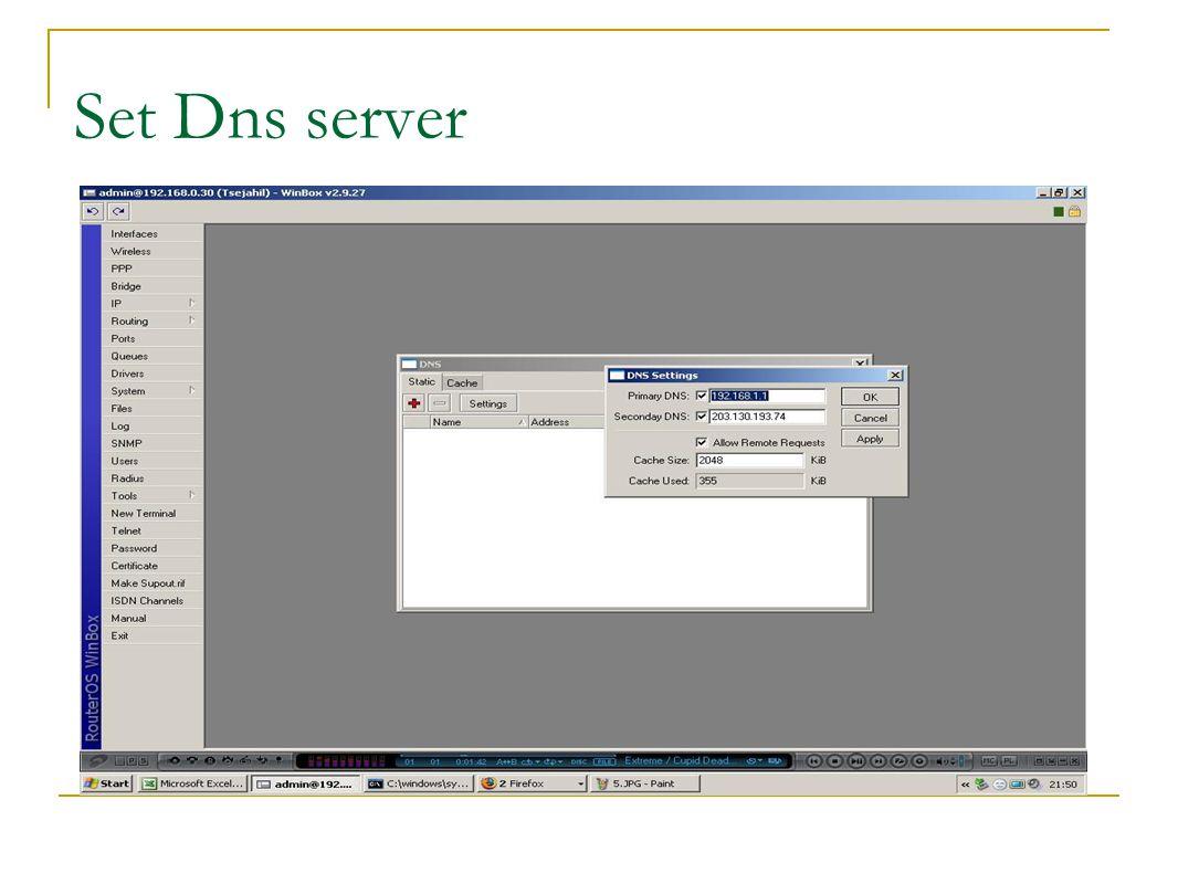Set Dns server