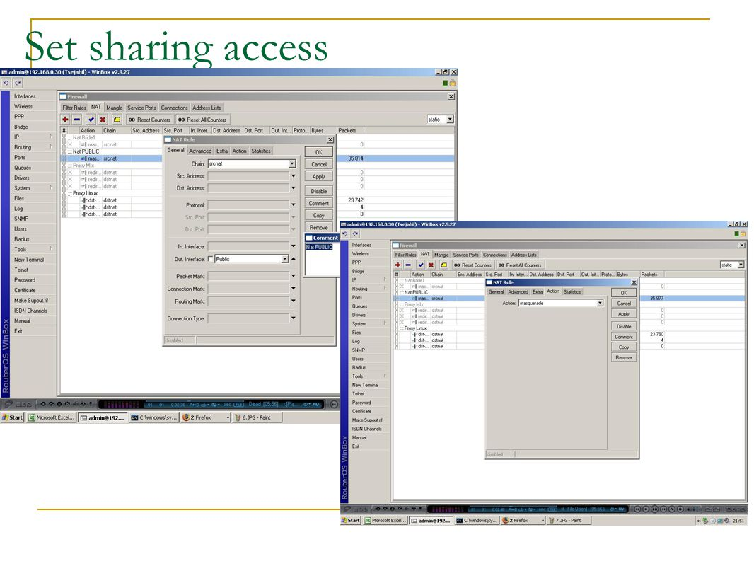 Set sharing access