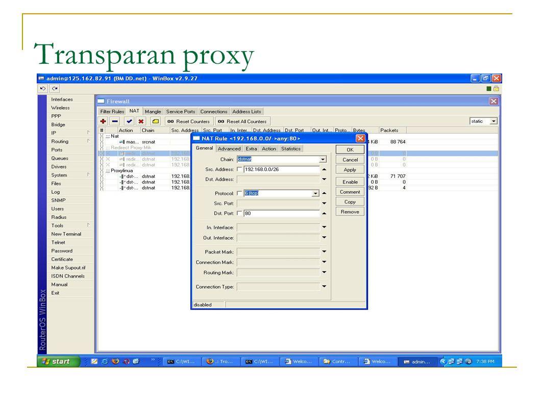 Transparan proxy