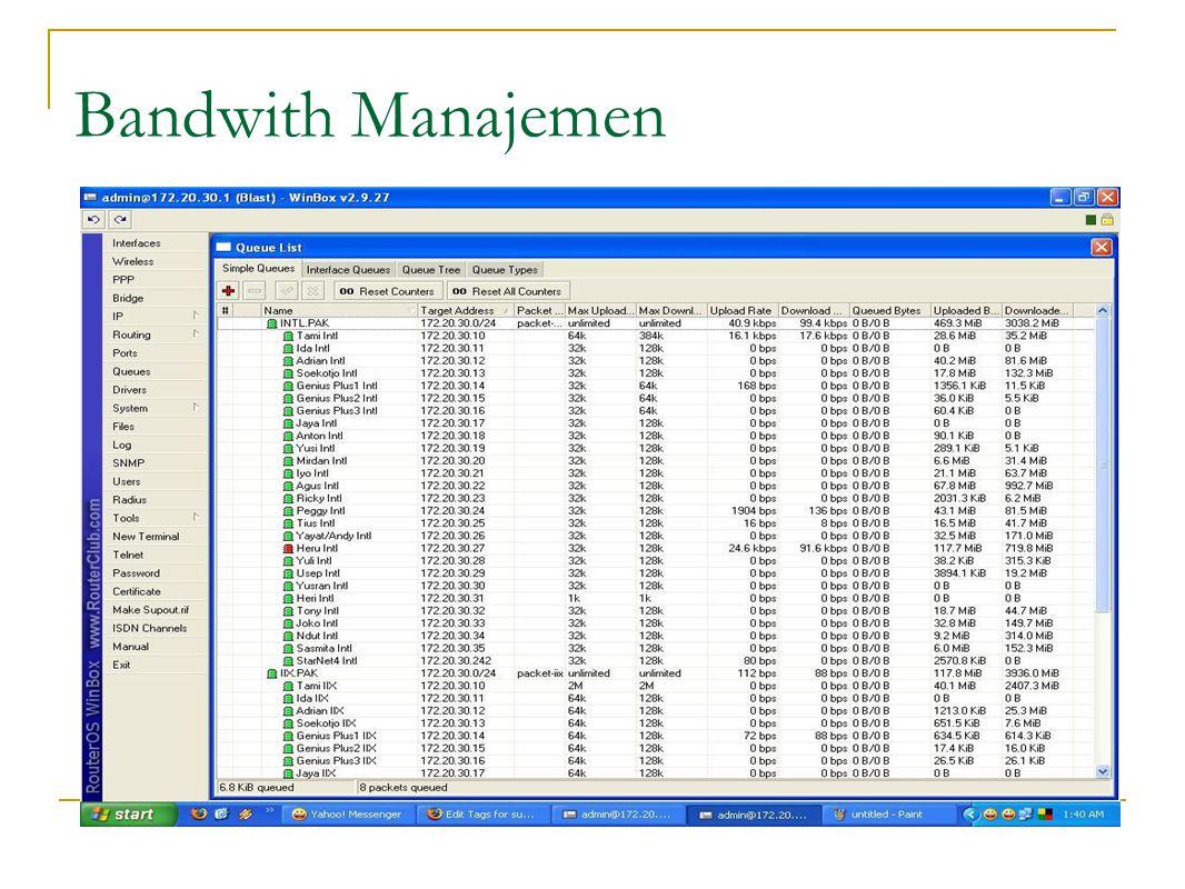 Bandwith Manajemen