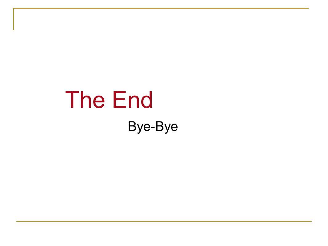 The End Bye-Bye