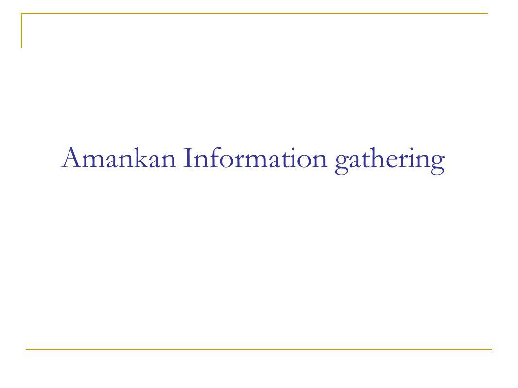 Amankan Information gathering