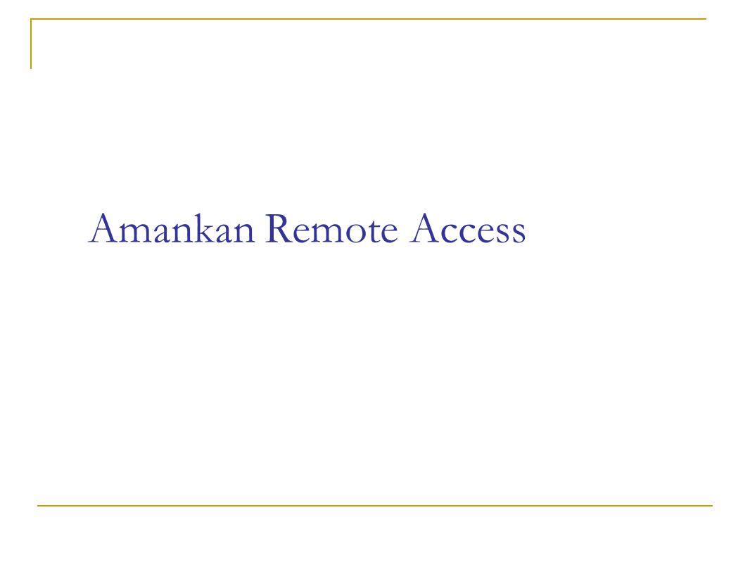 Amankan Remote Access