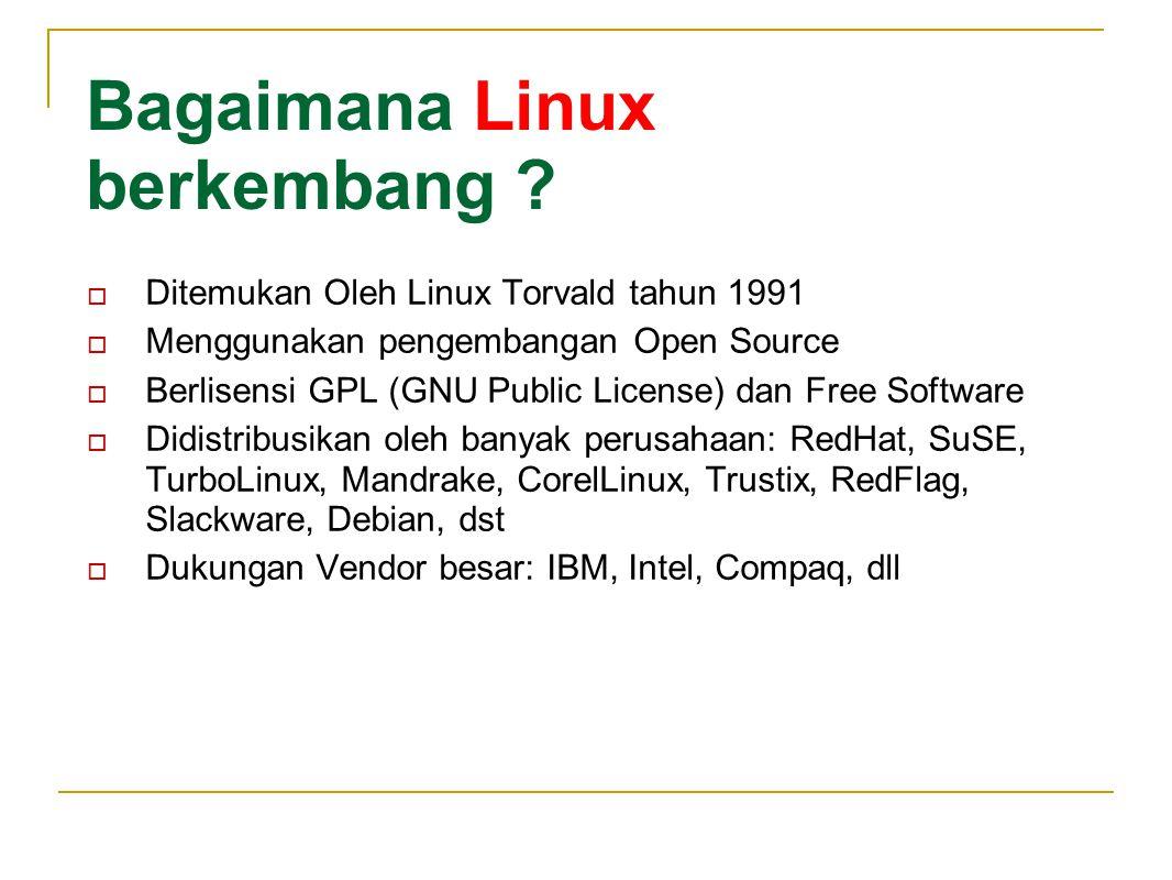 Bagaimana Linux berkembang