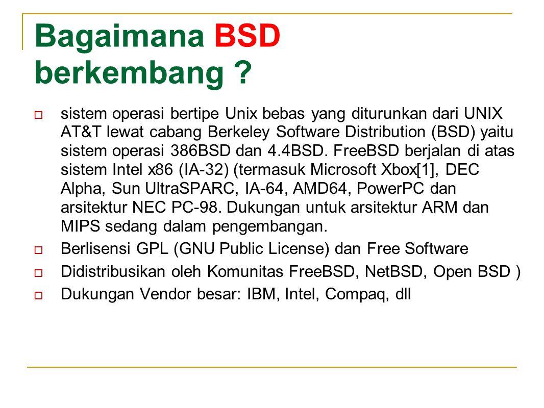 Bagaimana BSD berkembang