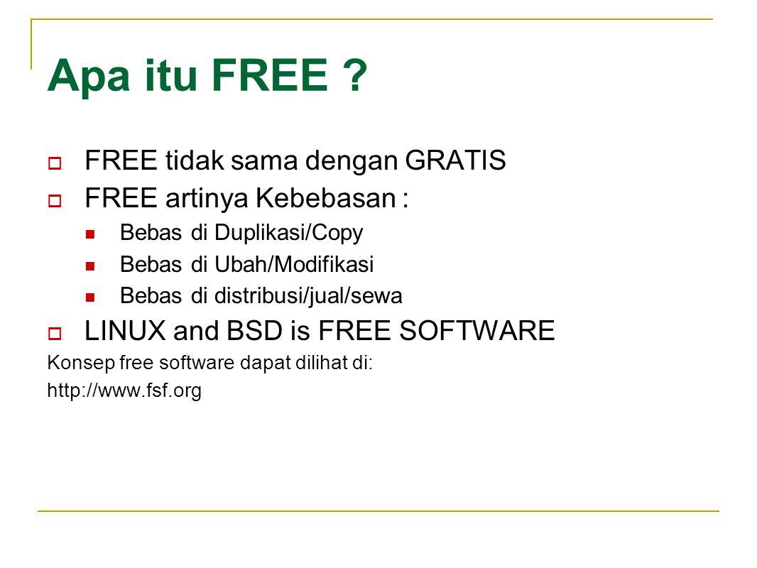 Apa itu FREE FREE tidak sama dengan GRATIS FREE artinya Kebebasan :