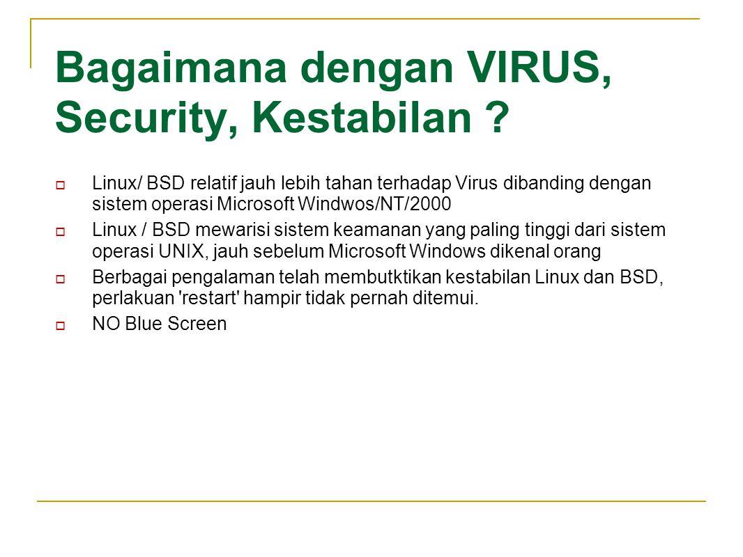 Bagaimana dengan VIRUS, Security, Kestabilan