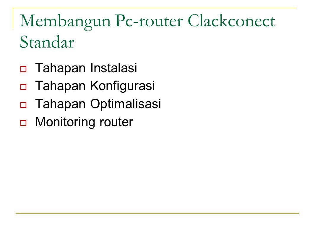 Membangun Pc-router Clackconect Standar