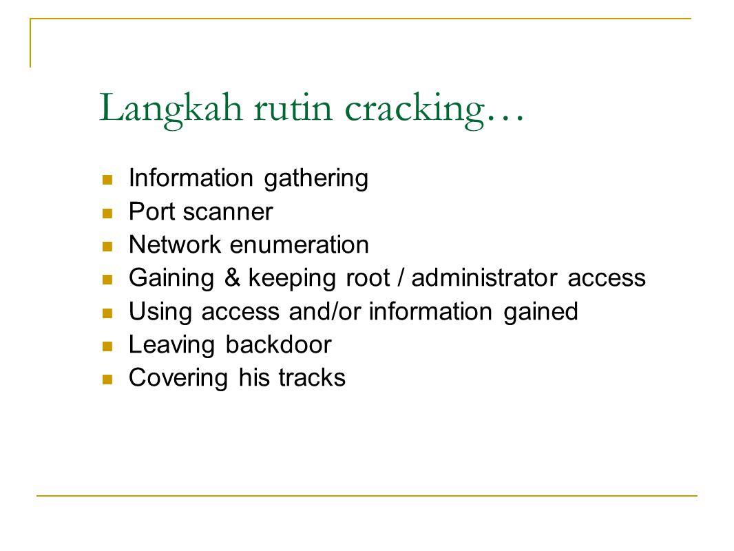 Langkah rutin cracking…