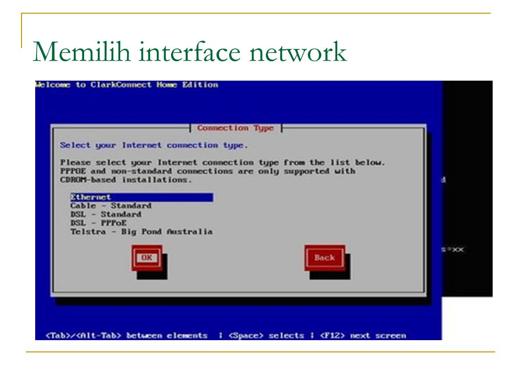 Memilih interface network