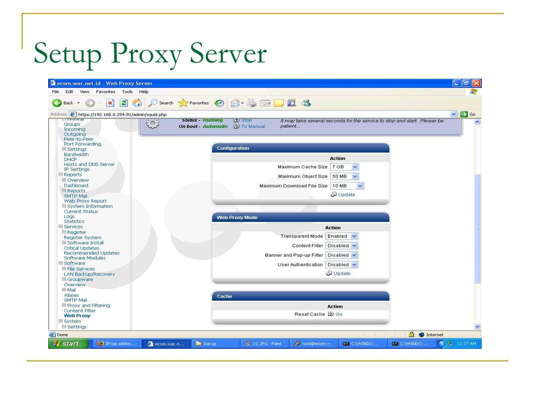 Setup Proxy Server