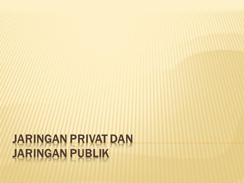 JARINGAN PRIVAT DAN JARINGAN PUBLIK