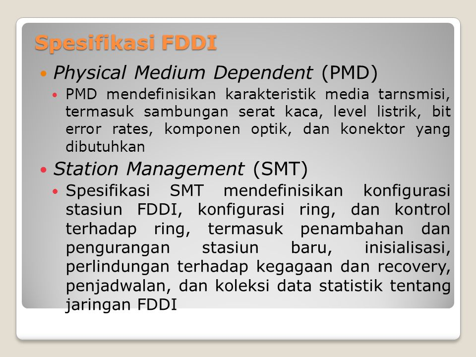 Spesifikasi FDDI Physical Medium Dependent (PMD)