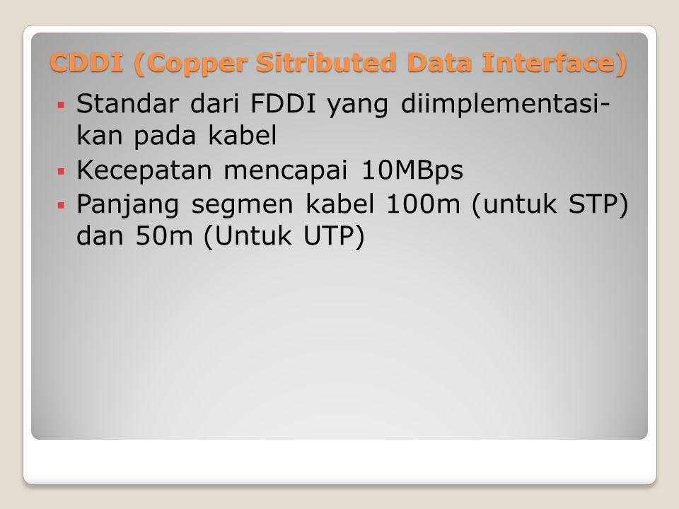 CDDI (Copper Sitributed Data Interface)