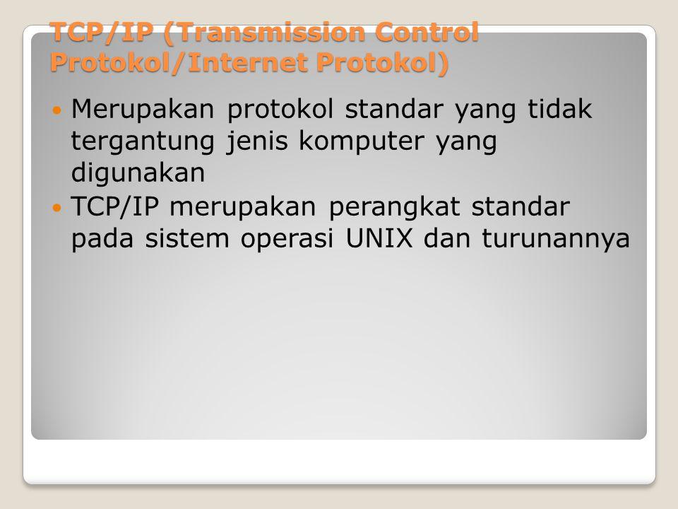 TCP/IP (Transmission Control Protokol/Internet Protokol)