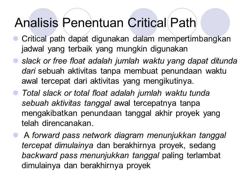 Analisis Penentuan Critical Path